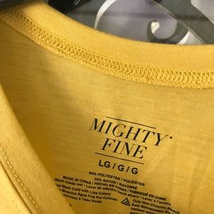 Mighty Fine Tops - New Mustard Good Vibes Drop Shoulder Top